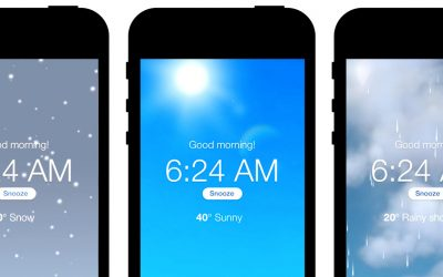 Wake up to weather animations