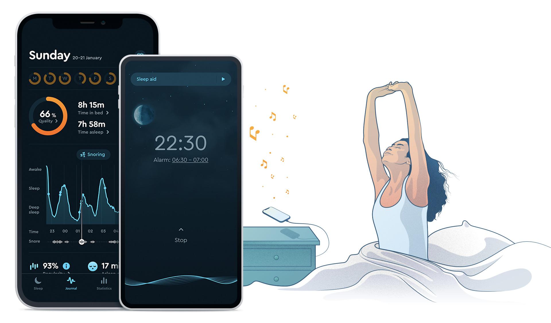 How the Sleep Cycle app works